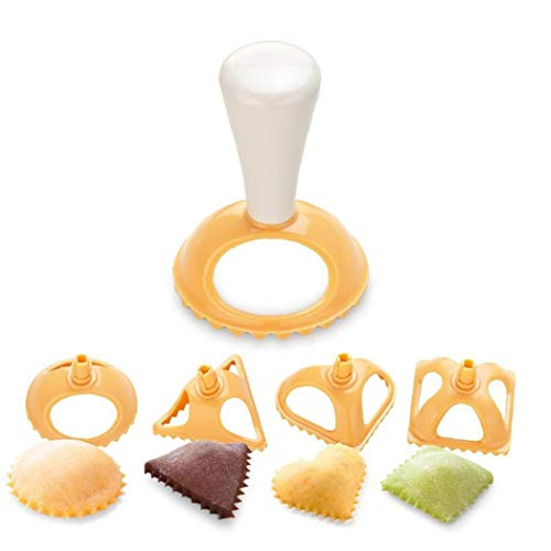 DierCosy Tools Dumpling Moulds Kunststoff 4 Formen Kreative Dumpling Presse Werkzeug Convenient Dumpling Maker Küche Kochend Gebäckform