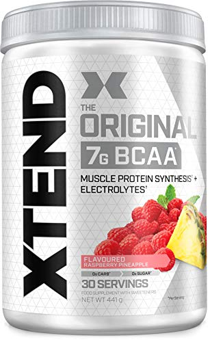 XTEND Original BCAA Powder Raspberry Pineapple | Branched Chain Amino Acids Supplement | 7g BCAAs + Electrolytes for Recovery & Hydration | 30 Servings