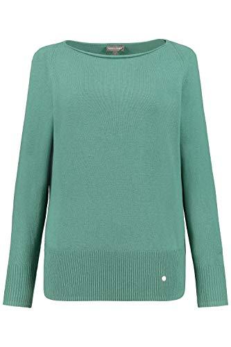 GINA LAURA Damen Pullover, U-Boot-Ausschnitt, Raglanärmel distelgrün XL 750224 47-XL