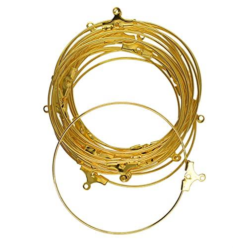 NK803 20 stks kralen hoepel loop oorbel oor draad sieraden maken bevindingen DIY Gouden kleur Sieraden bedels