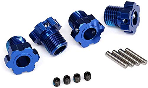 TRAXXAS Wheel hubs, splined, 17mm blue-anodized (4)/ 4x5 GS (4), 3x1 (TRX8654)