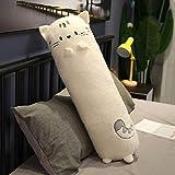 Tamaño Gigante Cat Corgi Rabbit Creative Long Soft Toys Office Lunch Break Nap Sleeping Pillow Cojín Soft Animal Home Accesorios 60cm