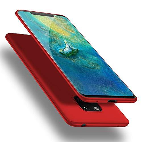 X-level Huawei Mate 20 Pro Hülle, [Guadian Serie] Huawei Mate 20 RS Hülle, Soft Flex Silikon Premium TPU Handyhülle Schutzhülle für Huawei Mate20 Pro / Mate20 RS Hülle Cover - Rot