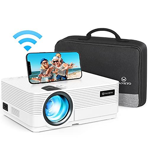 VANKYO Leisure 470 Proiettore WiFi, Videoproiettore Supporta 1080P, HiFi Speaker, 2 Porte HDMI, con Borsa Portatile, per TV Stick Chromecast PC iPhone Android Regalo Feste