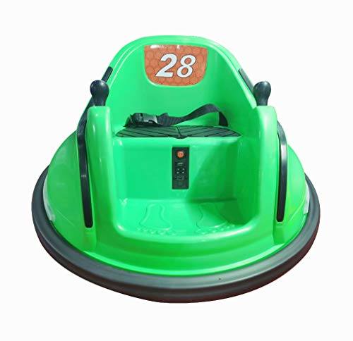 Rainbow Sophia NaNoGoGo Kids Toy Ride-On Bumper Car Vehicle Remote Control 360 Spin ASTM-Certified (Green)