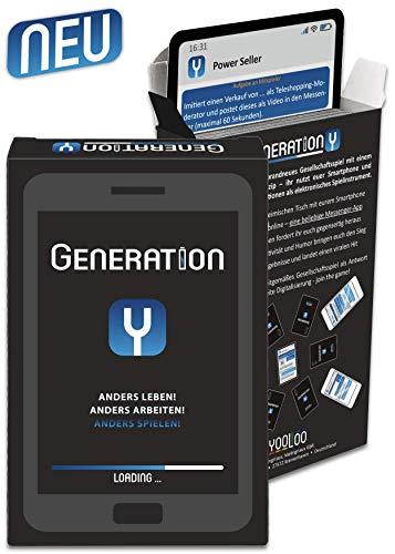 YOOLOO 259041 Generation Y – Interaktives Kartenspiel, Mehrfarbig