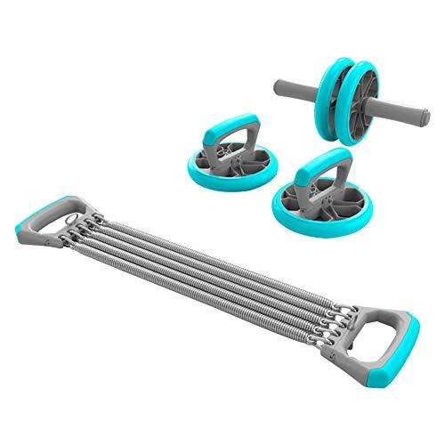 Bauchroller 3-in-1 AB Roller Bauchtrainer Set Bauch Rad Liegestützgriffe Handtrainer Für Fitness Bauch Muskel Training Abdomen Arm Rückens Für Männlich Weiblich Anfänger Gestalte Deinen Körper