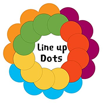 24 Packs Multicolor Classroom Line up Dots Stickers Self Adhesive Vinyl 6 inch Round Decals Line up Markers for Preschool and Kindergarten Elementary Teachers