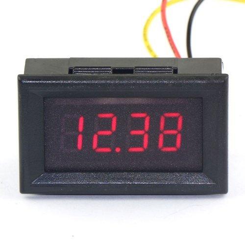 """0.36 \""""Digital Voltmeter DC 0-33V Spannungsprüfer 4-stellige LED-Anzeige rot-Panel-Volt-Monitor Spannungs Gadget Test-Tool mit 3 Leitungen messen Einfache Installation Geeignet für Auto / Motorrad-"""