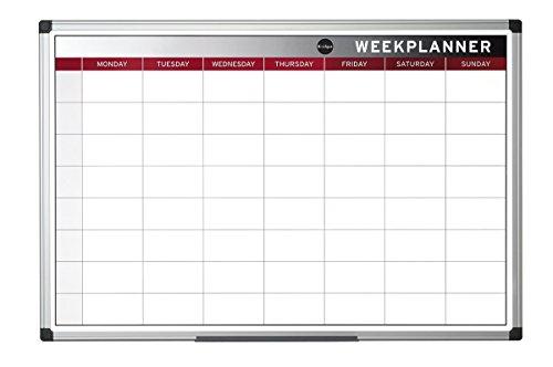 Bi-Office Wochenplaner, Magnetisch, Aluminium Rahmen, 60x45cm