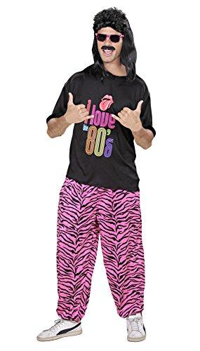 Widmann 98851 - Erwachsenenkostüm, 80er Jahre T-shirt und Hose, angenehmer Tragekomfort, Assi Anzug, Proll Anzug, Retro Style, verschiedene Größen, Bad Taste Party, 80ties, Karneval