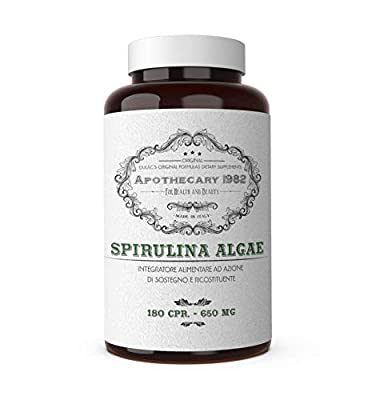 Apothecary 1982 - Spirulina Algae Dietary supplement with invigorating and anti-inflammatory properties, 300 capsules, 3000 mg - 100% Made in Italy by Dulàc Farmaceutici 1982