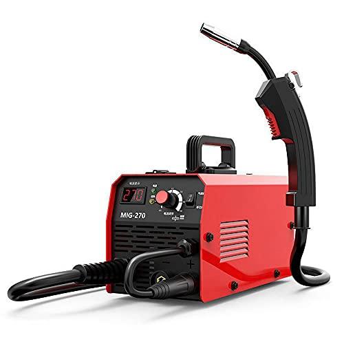 Mini soldadora eléctrica de arco portátil, pequeña pantalla digital 220 V, soldadora doméstica sin gas Co² para hilo de soldadura 0,8 – 1,0