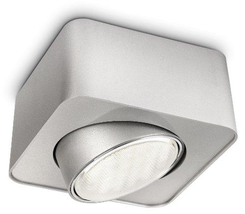 Philips EcoMoods 57950/48/16 Plafonnier 1 Spot GX53 Aluminium