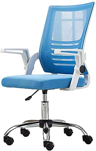 KEYREN Silla de oficina para el hogar, silla de ordenador, altura ajustable, con respaldo alto, con soporte lumbar, silla giratoria de malla, silla de rodillas (color azul)