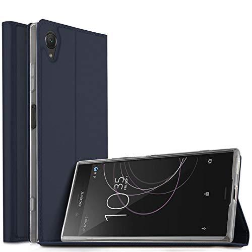 Verco Handyhülle für Xperia XA1, Premium Handy Flip Cover für Sony Xperia XA1 Hülle [integr. Magnet] Book Hülle PU Leder Tasche, Blau