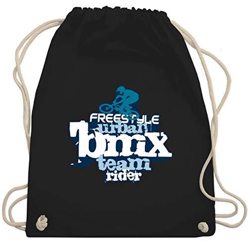 Shirtracer Radsport - BMX - Unisize - Schwarz - bmx rucksack - WM110 - Turnbeutel und Stoffbeutel aus Baumwolle