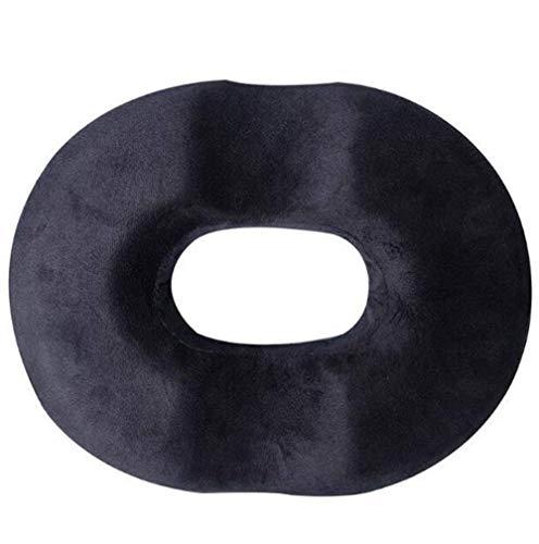 DAGUAI Chair Cushions Donut Pillow Hemorrhoid Seat Cushion For Coccyx,Sciatica,Pregnancy,Post Natal Orthopedic SurgeryGood Support (Color : Black, Size : 45X35.5X6.5CM)