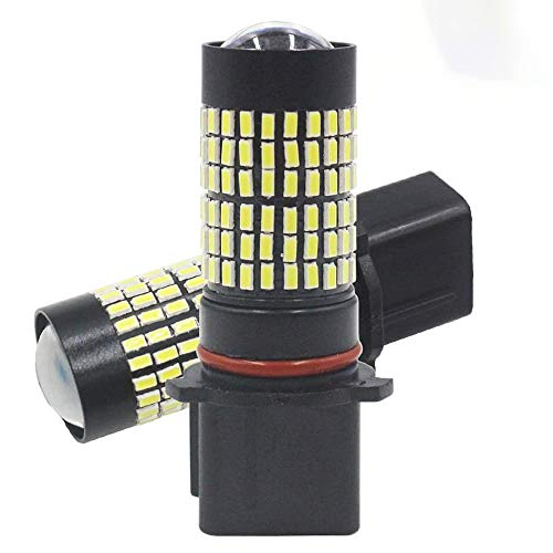 Alopee Pack de 2 PSX26W 12278 12278C1 H28W 9V-30V Blanc 1400 Lumens 3014 144 SMD Projecteur Antibrouillard à LED avec Projecteur - Remplacement du Projecteur Antibrouillard à LED Feu de Jour 6000K
