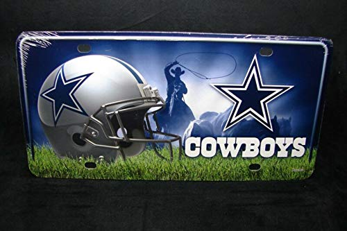 Nfl Dallas Cowboys Metal Aluminum Car License Plate Tag. Auto Car Novelty Accessories License Plate Art