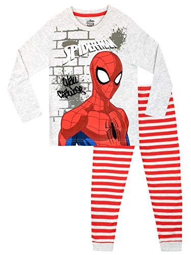Marvel Jungen Spiderman Schlafanzug Mehrfarbig 116