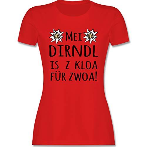 Oktoberfest & Wiesn Damen - MEI Dirndl is z kloa für zwoa! schwarz - L - Rot - MEI Dirndl zu kloa - L191 - Tailliertes Tshirt für Damen und Frauen T-Shirt