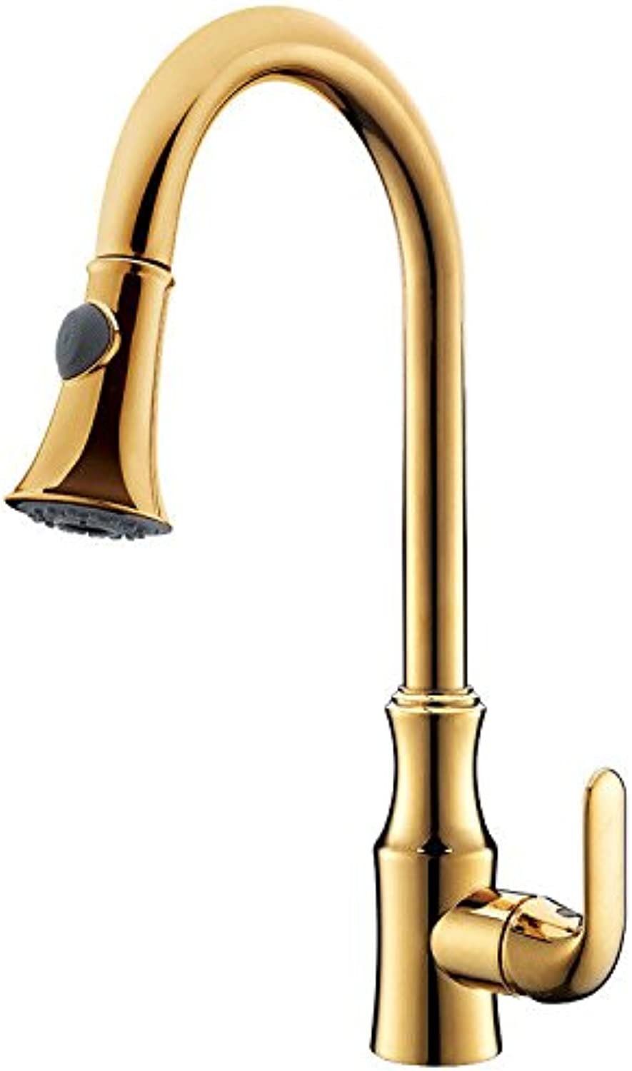 AQMMi Bathroom Sink Faucet Basin Mixer Tap golden Brass Cold and Hot Water Basin Sink Tap Bathroom Bar Faucet