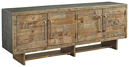 Signature Design by Ashley Mozanburg Extra Large TV Stand Rustic Brown
