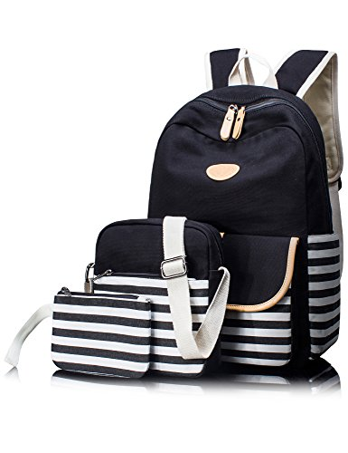 Leaper casual canvas backpack set