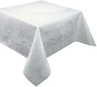 Garnier-Thiebaut 30566Cotton Comtesse Table Cloth Anti-Stain 235x 235cm White