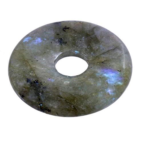 Lebensquelle Plus Labradorit Edelstein Donut Ø 30 mm Anhänger