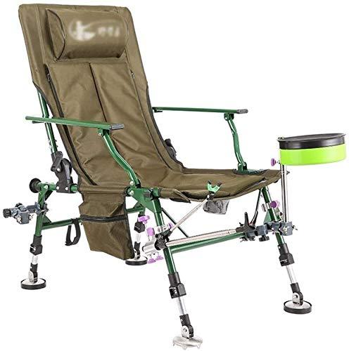 Zhihao Camping Wandern Angeln Stuhl Multifunktionale Reclining Falten Freier Stuhl Tragbare Sketching Stuhl Universalfuß zur Anpassung an komplexem Gelände Tragfähigkeit 200 kg