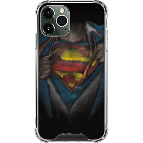 Skinit Clear Phone Case Compatible with iPhone 11 Pro Max - Officially Licensed Warner Bros Superman Chalk Design