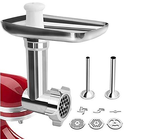 Accesorio Para Picadora De Carne Kitchenaid, Accesorio Para Picadora De Carne De Metal Kitchen Aid Para Batidora De Pie Kitchenaid Y Cuisinart SM-50, SM-50BC, SM-50R