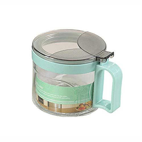 Juego de caja de condimentos de vidrio transparente con base antideslizante y cuchara, botellas de condimento de cocina contenedor de almacenamiento para especias sales, azúcar, bote de especias de gran capacidad 3.5*3.5*2.9in