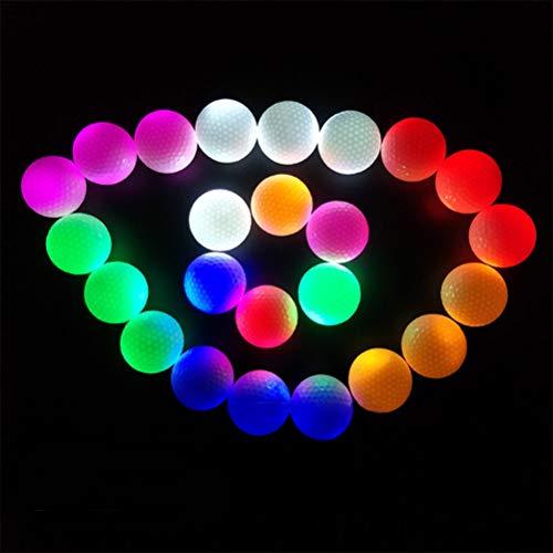 Ahagut Oplichtende golfballen, golfoefenballen, led-lamp, golf, donker lichtgevende golfballen, perfect voor nachttraining en lange afstanden
