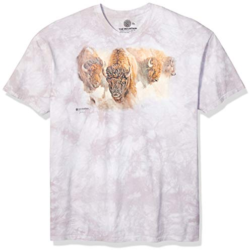 The Mountain Unisex-Erwachsene Bison Herd T-Shirt, grau, X-Large
