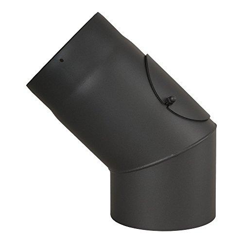 Ø 130 mm Coude à 45 ° avec trappe - Gris fonte