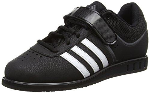 adidas Powerlift2.0 Unisex-Erwachsene Gewichtheben Schuhe, Schwarz (Core Black/White/Night Metal), 48 2/3 EU