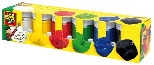 SES Creative Children's Poster Paint, Set of 6 Colors by