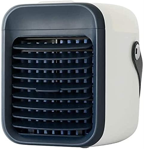 XINGDONG Acondicionador de evaporación portátil con 3 velocidades de viento Ventilador de refrigeración de escritorio pequeño, refrigerador de aire personal, Mini acondicionador de aire USB Fan para e