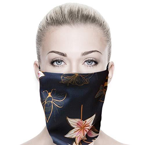 ALB Stoffe® ProtectMe - PREMIUM Loop LILLY, permanent antimikrobiell, 100% Made in Germany, Ökotex® Standard 100, Mund-Nasen-Maske aus Trevira Bioactive®, waschbar, schadstofffrei, 1er Pack