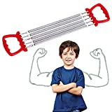 Ducomi Extensor de pecho ajustable con muelles de acero para resistencia, ejercicio y...
