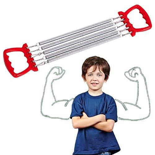 Ducomi Extensor de pecho ajustable con muelles de acero para resistencia, ejercicio y potenciación muscular – Expansor torácico para fitness, atletismo, body building y gimnasia (modelo 3)