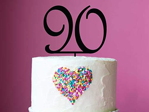 90e verjaardag taart topper - laser cut nummer 90 verjaardag taart decoratie toppers - gemaakt om te bestellen in Melbourne Australië - taart topper maker