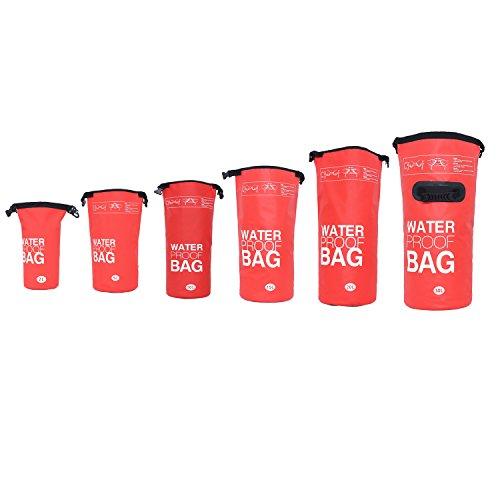 DonDon Bolsa Impermeable Bolsa para almacenar Tus Objetos de Valor Ideal para Practicar Kayak navegación Rafting Pesca natación Camping Senderismo Rojo 5 Liter
