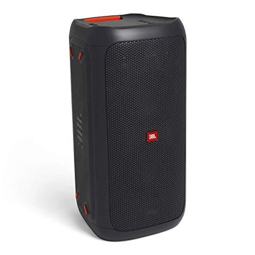 JBL PartyBox 100 in Schwarz – Tragbarer Bluetooth Party-Lautsprecher mit Lichteffekten – Spritzwassergeschützte, mobile Musikbox mit Netzteil - 4