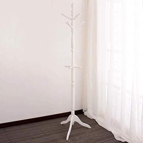 ZGQA-GQA Toda la Madera sólida Escudo Perchero Piso Dormitorio Estante de la suspensión de un de Madera Maciza Simple Capa Blanca Moderna del Estante del Estante de Montaje en Pared 50x50x183cm