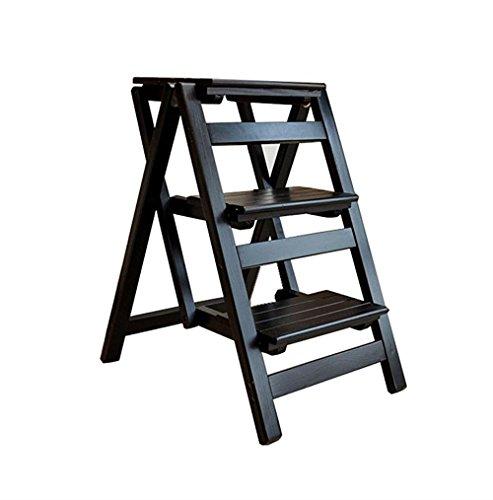 ZRXian-Tabourets Échelle Pliante d'étagère Pliante de Chaise d'échelle en Bois Solide de Chaise d'échelle de 3 étapes en Bois Solide (Couleur : #1)