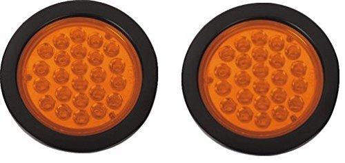 Bajato: Lot de 2 clignotants ronds à LED Ambre 10,2 cm Pour tracteur, remorque, camion